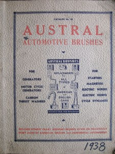 Austral Automotive Brushes - 1938
