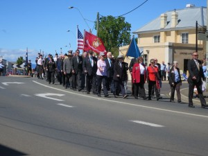 Parade underway